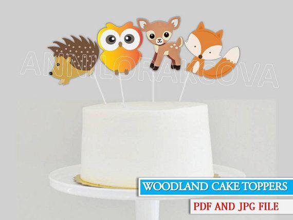 Woodland Cake Toppers/  Woodland Cake/ Woodland by ANNILORACK