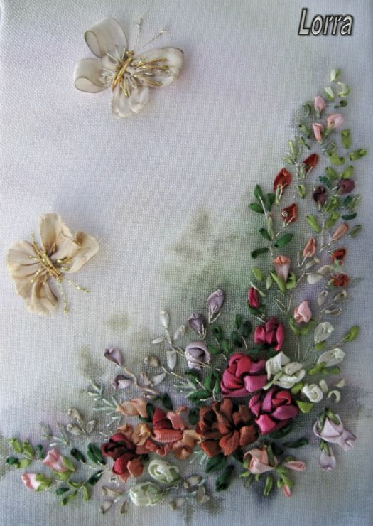 Best ribbon embroidery patterns images on pinterest