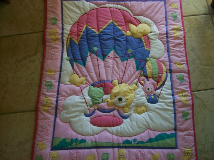 Bears in a Balloon Baby Quilt