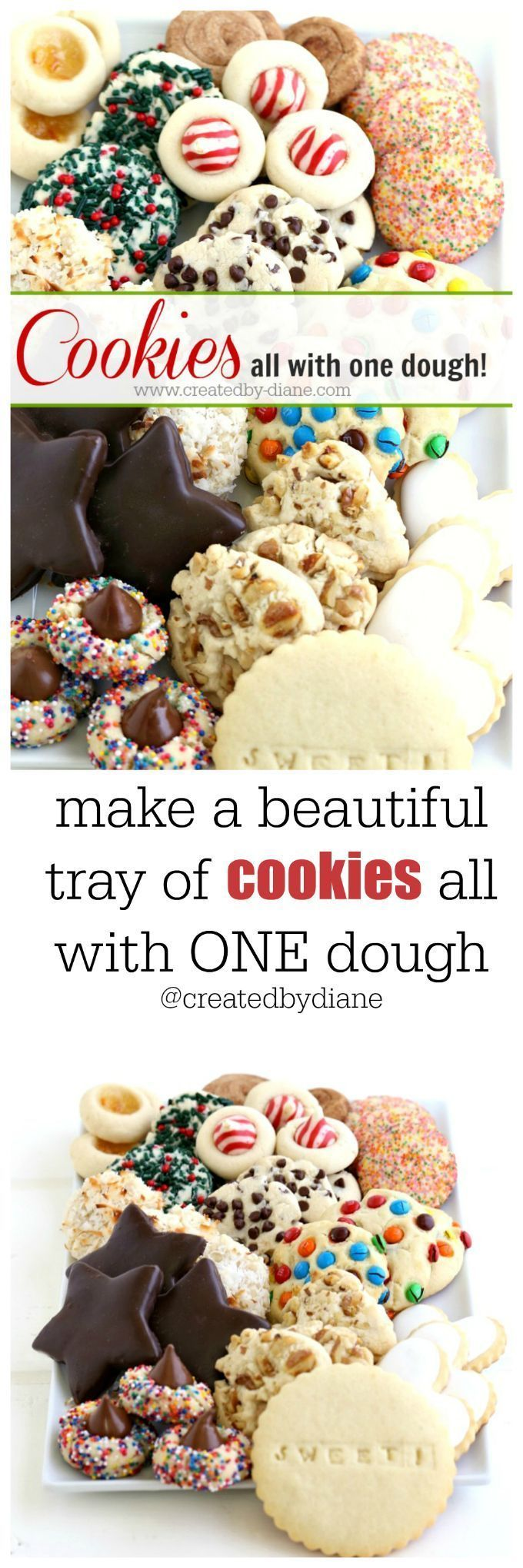 one dough cookie tray from /createdbydiane/ #christmascookies