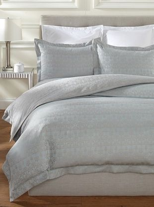 60% OFF Peacock Alley Bali Duvet Set (Glacier)