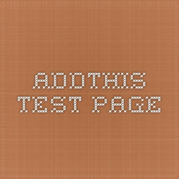 AddThis Test Page