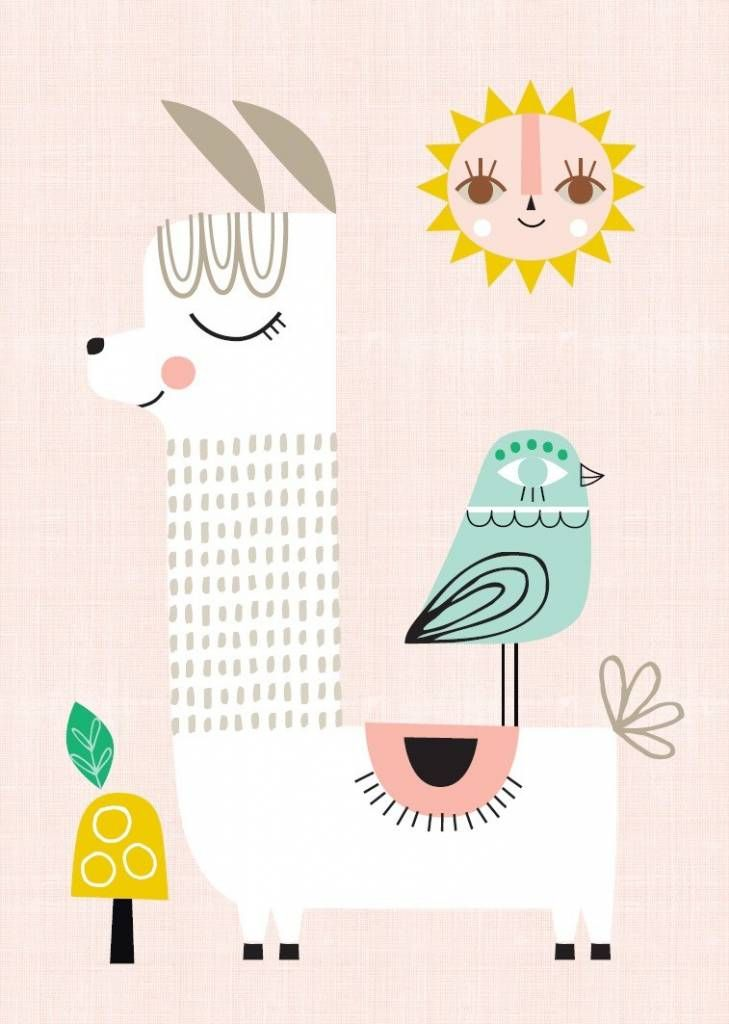 Te lief is deze witte lama die geniet van de stralende zon.