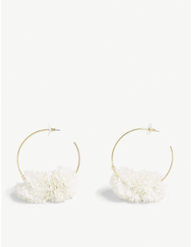 f8dd8b47ef87d Sanchia brass and cotton hoop earrings #Sanchia#open#design ...