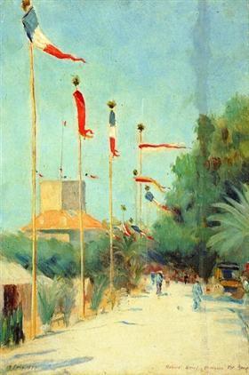 Saint-Nazaire, France - Robert Henri- 1890 -American Realism