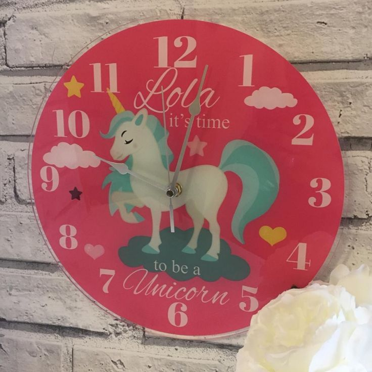 Personalised Time to be a Unicorn Clock