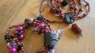 Diy - How to make beaded charm bracelet Olga's dreamland - YouTube