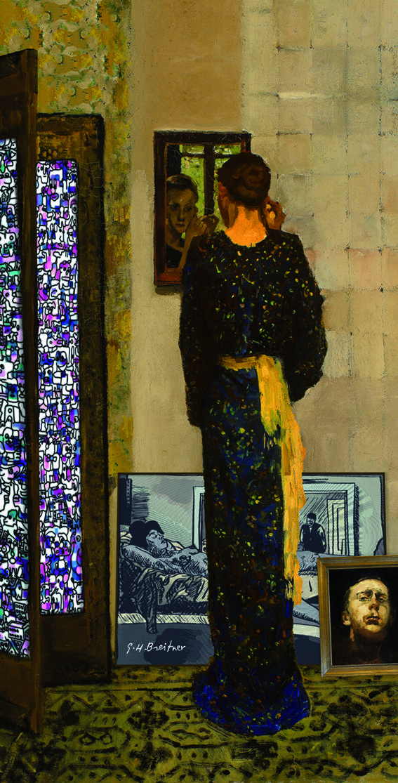 One of George Breitner's kimono girls in a new setting