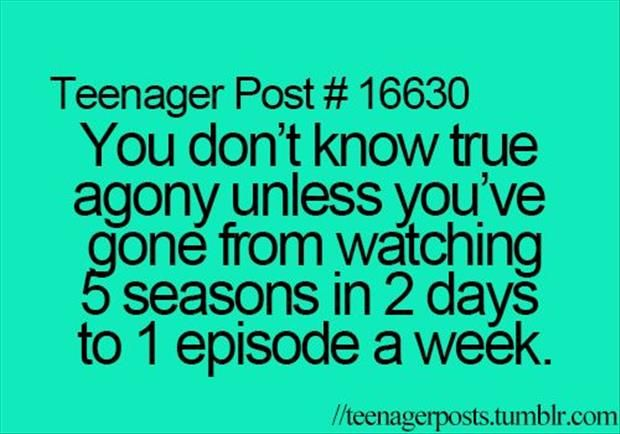 I was seriously just saying this yesterday when my dad asked if I HAD to watch ouat right when it was on