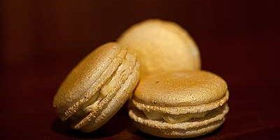 Gold and Champagne Macarons
