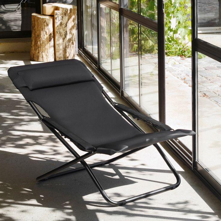 Outdoor Lafuma Transabed XL Plus Air Comfort Folding Beach Chair - LFM2617-6893