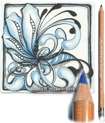 INDIGO BLUE General Pastel Chalk Pencil, excellent for shading Zentangle Tiles and marking  fabric