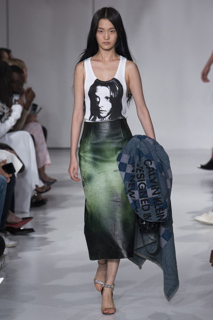 #calvinklein #andywarhol #fashion #artandfashion #andywarholtee#leatherskirt