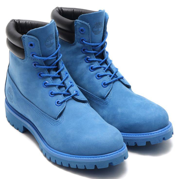Timberland × atmos 6 inch Double Collar Boot BLUE NUBUCK