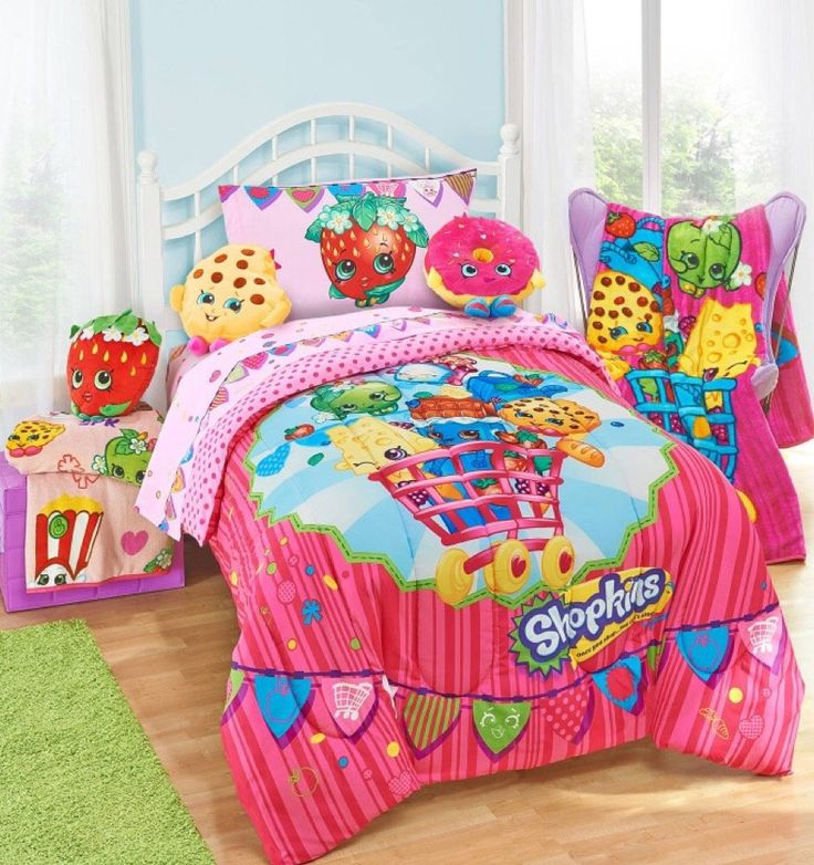 Shopkins Kids 5 Piece Bed In A Bag Twin Bedding Set
