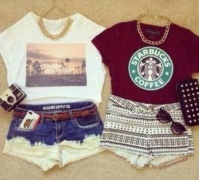 The Starbucks shirt tho...