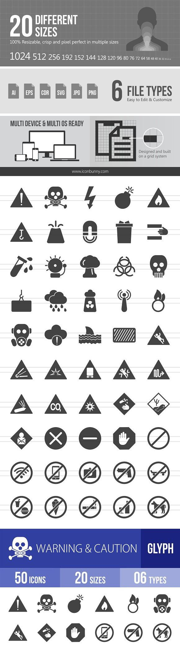 50 Warning Caution Glyph Icons Glyph Icon Glyphs Icon