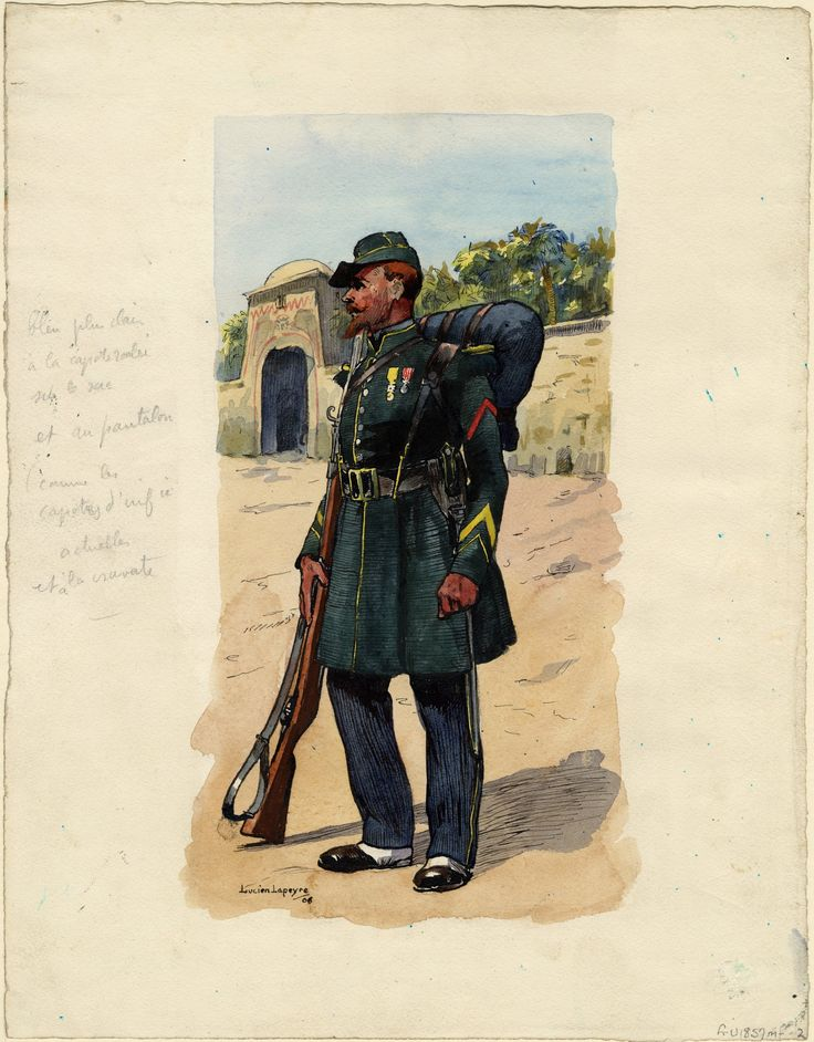 French; 1st Regt Foreign Legion, Tirailleur, 1858 by Lucien Lapeyre