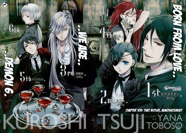 Free Anime Character Popularity Poll : Kuroshitsuji s character popularity poll