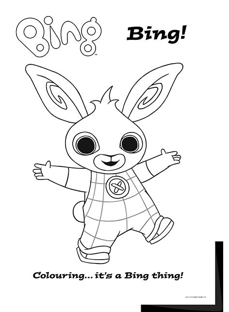 A complete set of bing bunny and friends colouring sheets to download perfect for bingsters