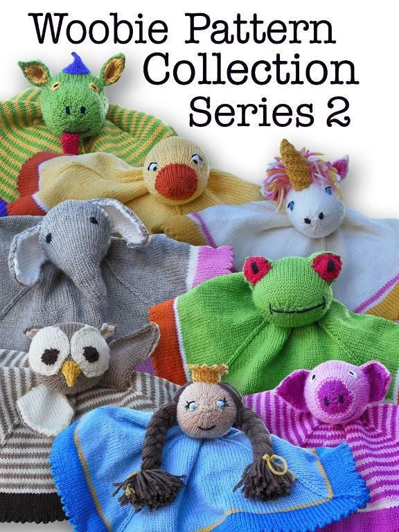 Woobie Pattern Collection Series 2. My friend designed these patterns. So adorable!