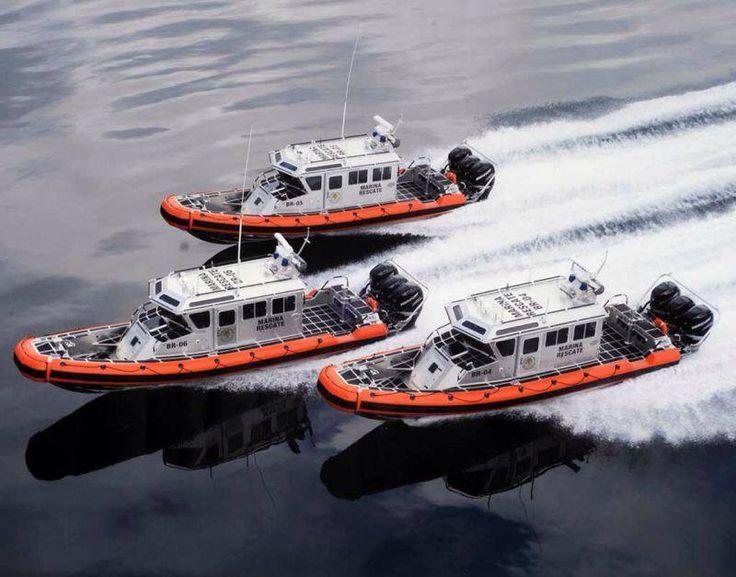 Lancha de rescate de la Armada de México