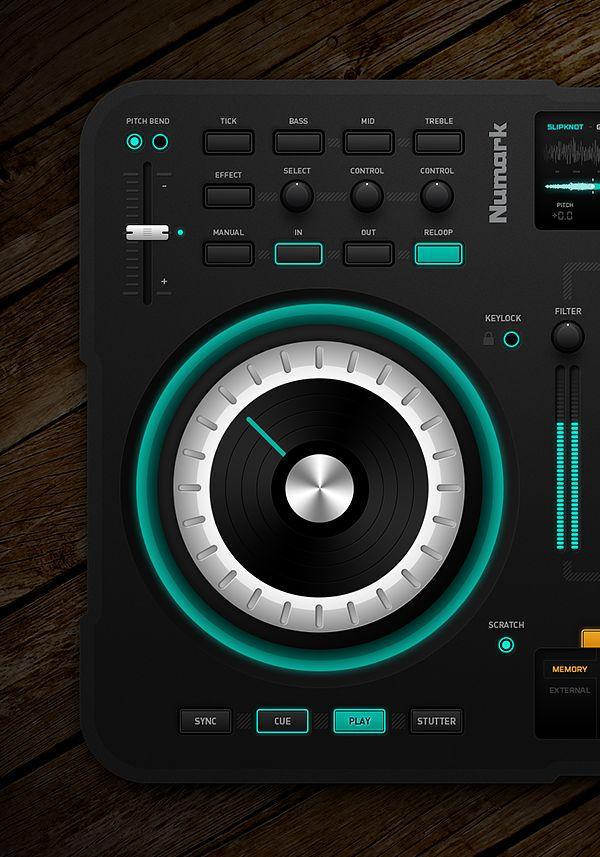 DJ Midi Controller by Emile Rohlandt, via Behance #ui