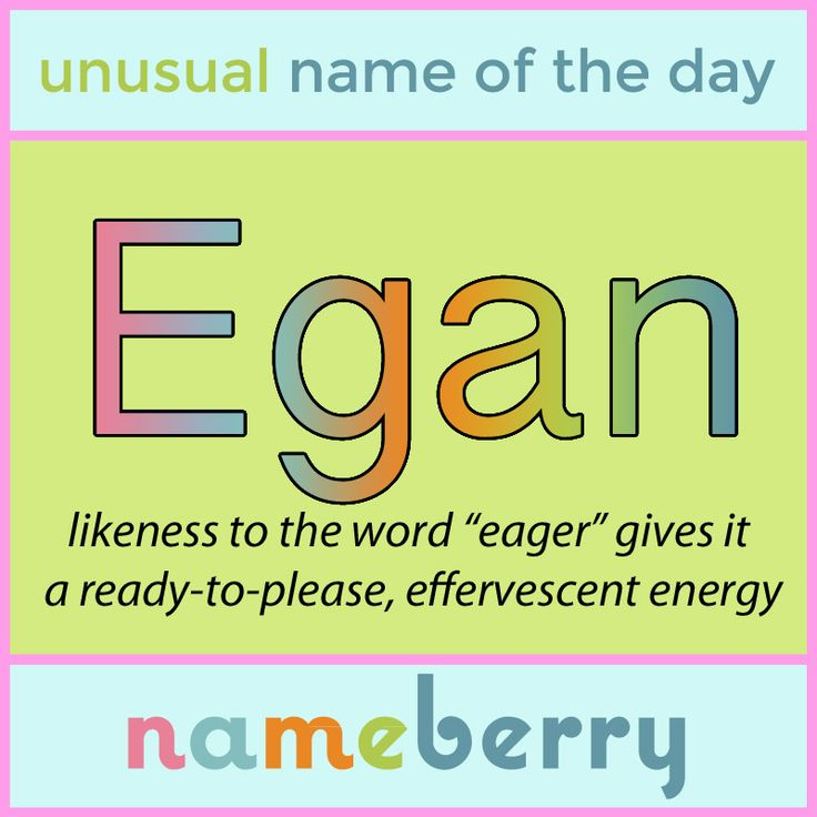 This Irish surname would make a great substitute for the overused Aidan.http://nameberry.com/babyname/Egan