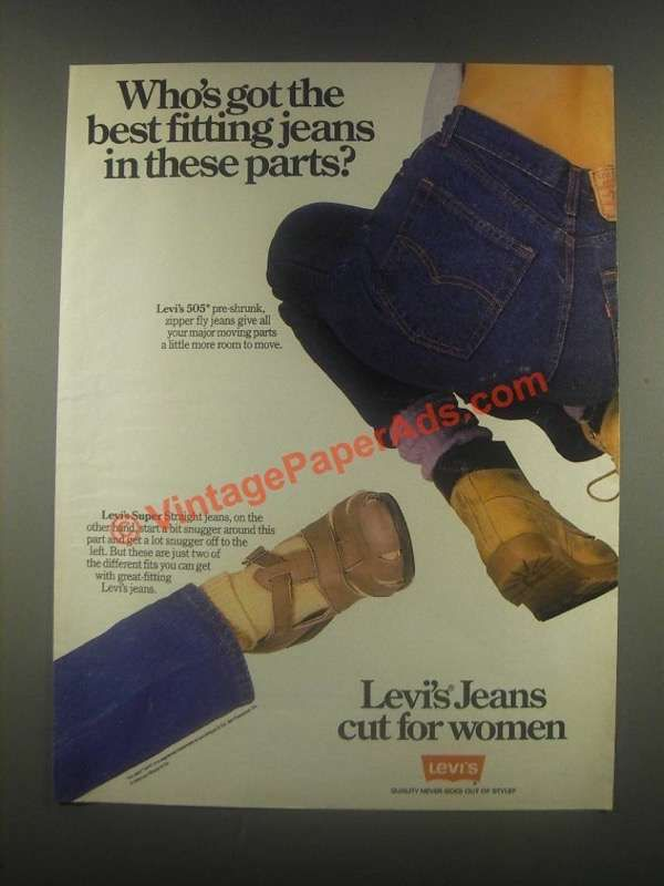1985 Levi's 505 and Super Jeans Ad - Cut for Women