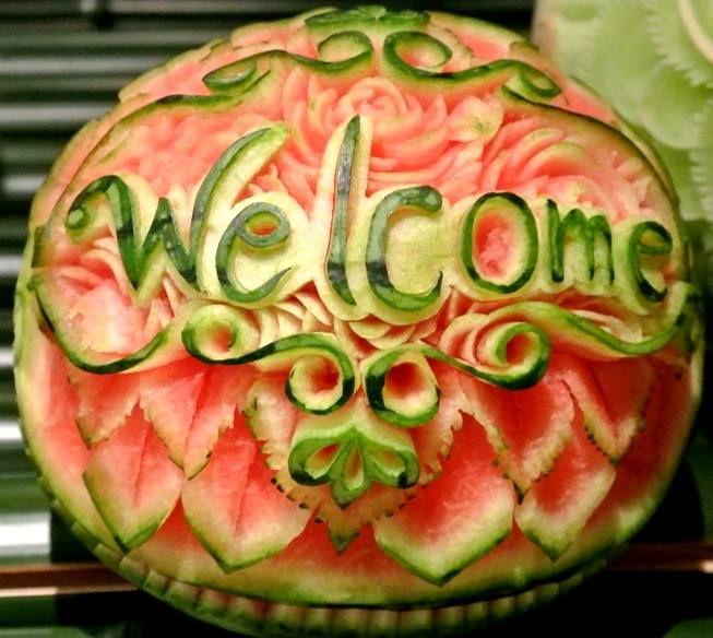 Watermelon engraving