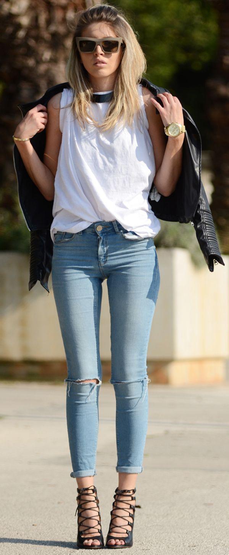 skinny jeans   jacket