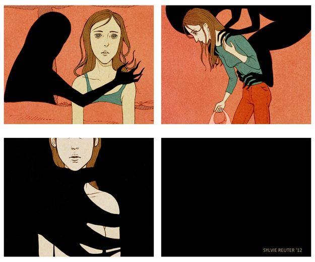 Art by Sylvie Reuter .