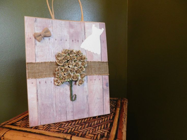 Country Wedding Gift Bag, Barn Inspired, Bridesmaid Gift Bag, Gift Bag with Handles by DLDesignerCrafts on Etsy https://www.etsy.com/listing/272180536/country-wedding-gift-bag-barn-inspired
