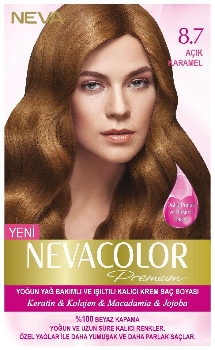 Neva Color Premium Sac Boyasi 8 7 Acik Karamel Sac Sac Boyasi