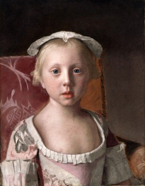 Princess Louisa by Jean-Etienne Liotard (Swiss artist, 1702-1789)