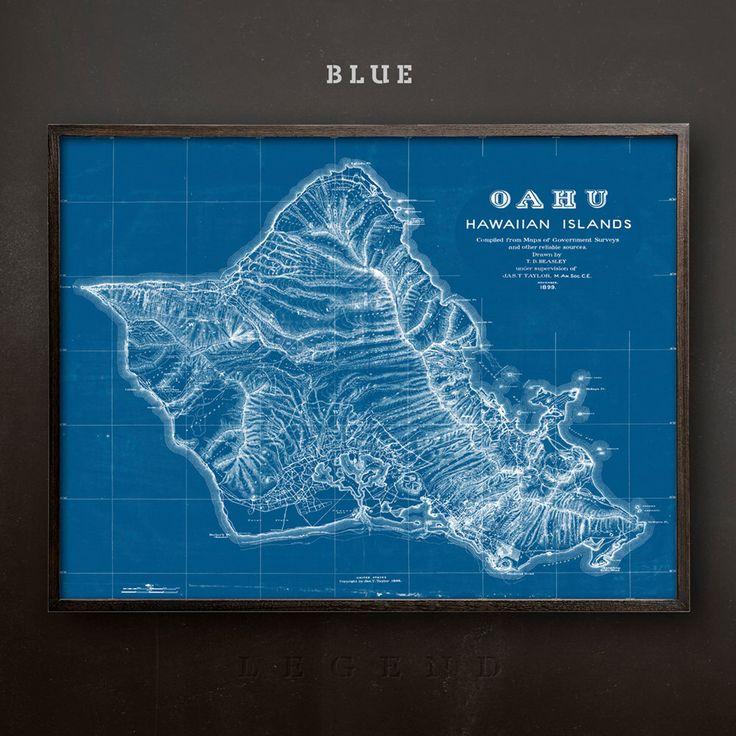 Map of Oahu, Hawaii Map, Hawaiain Islands Map, The Big Island Map, Hawaiin Print, Hawaiin Art, Island Decor, Beach Art, Cottage Prints, Art by LegendCo on Etsy https://www.etsy.com/listing/458502412/map-of-oahu-hawaii-map-hawaiain-islands