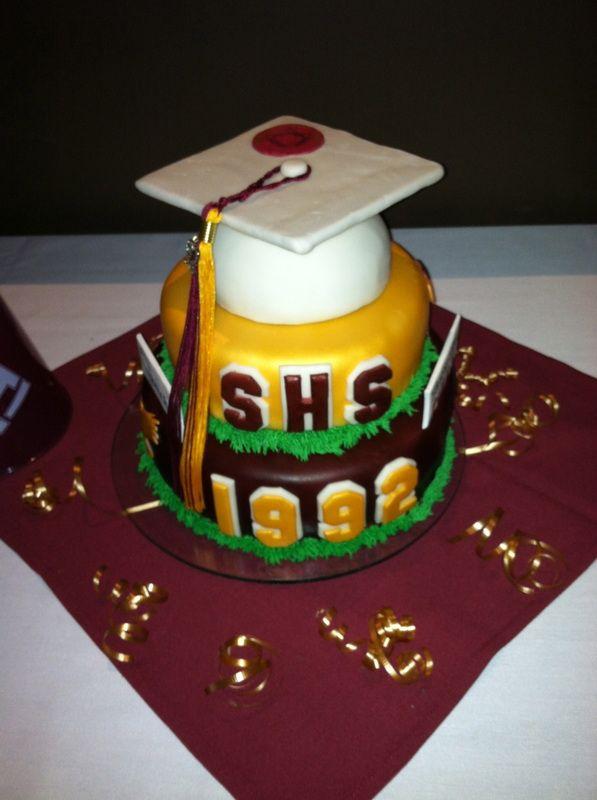 High School Reunion Cake . www.LittleMissKrafty.com