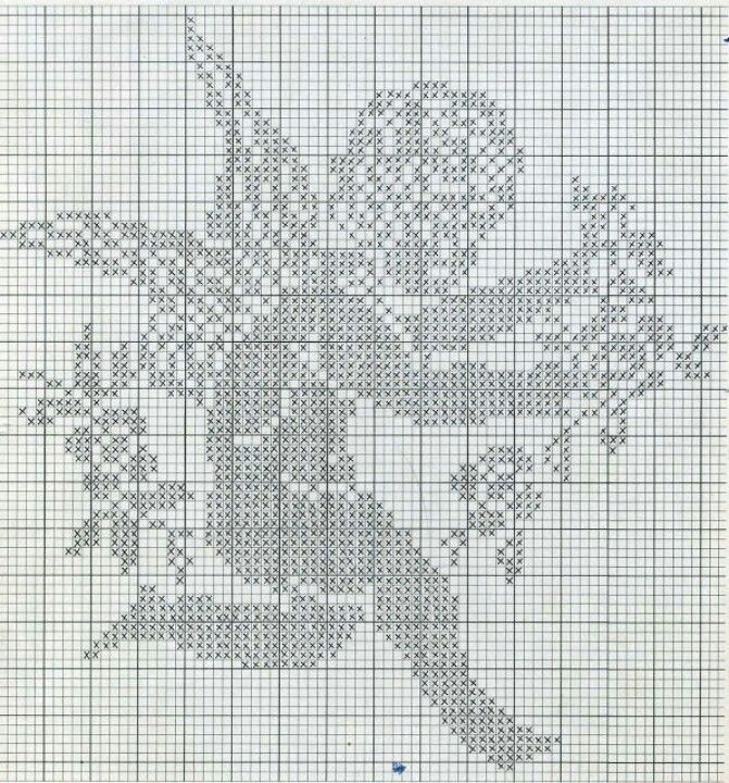 little angel filet crochet