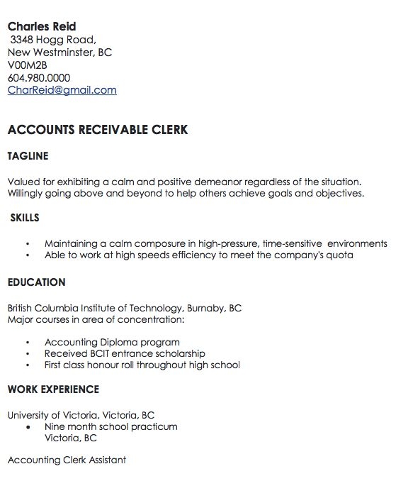 Accounts Receivable Clerk - http://resumesdesign.com/accounts-receivable-clerk/