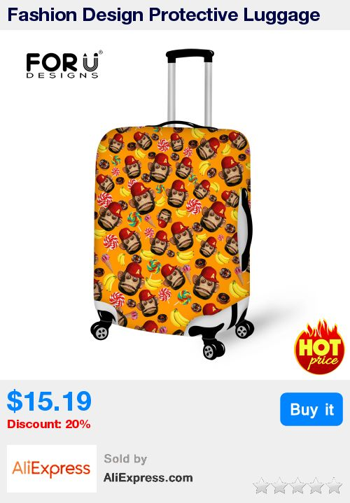 Fashion Design Protective Luggage Cover Cute Monkey Printed Travel Luggage Cover Suit for 18-30 inch Case Elastic Suitcase Cover * Pub Date: 23:23 Apr 15 2017