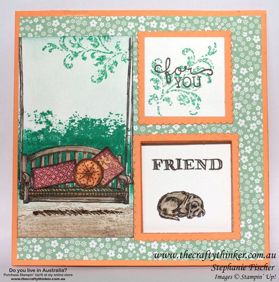 Stampin up, #thecraftythinker, Sneak Peek, Sitting Here, Peakaboo card