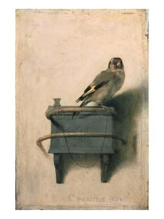 The Goldfinch, 1654 Giclee Print by Carel Fabritius at Art.com