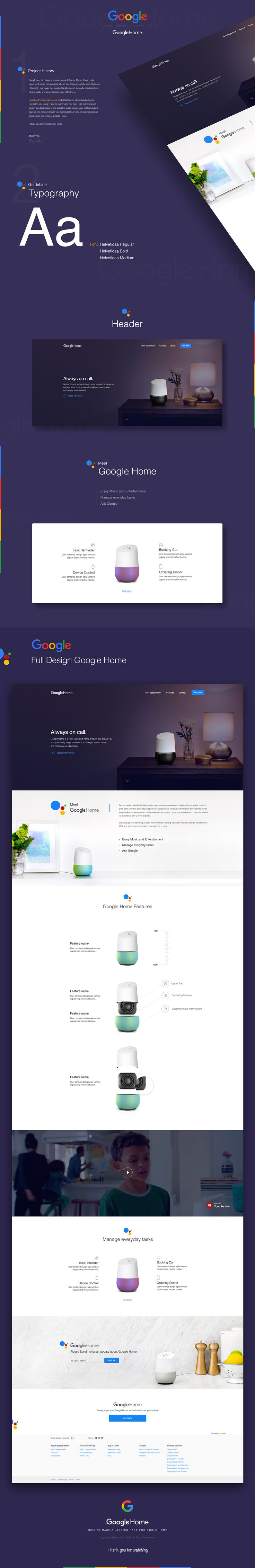 Google Home Landing Page on Behance