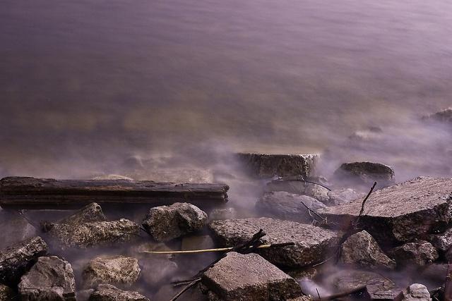 Water @ night by DarkElfPhoto, via Flickr