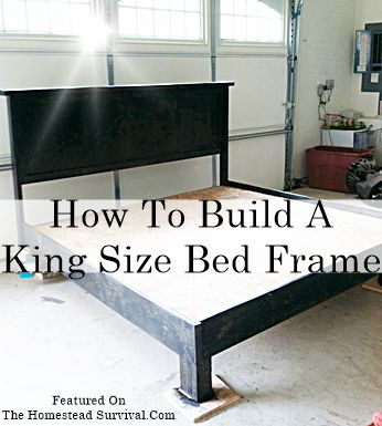 The Homestead Survival | How To Build A King Size Bed Frame ...
