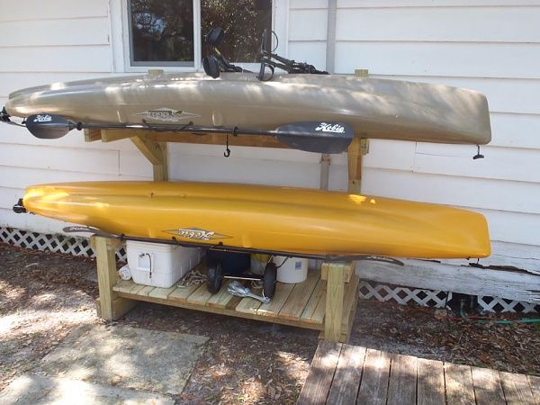 homemade kayak rack plans images | Plans for a kayak rack? - Kayak Fishing Adventures on Big Water's ...