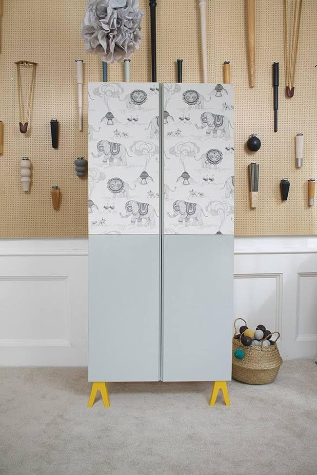 Más de 20 Ideas para personalizar tu armario Ivar de Ikea y convertirlo en un mueble único y exclusivo. Proyectos DIY con muebles de Ikea, Ikea Hacks.