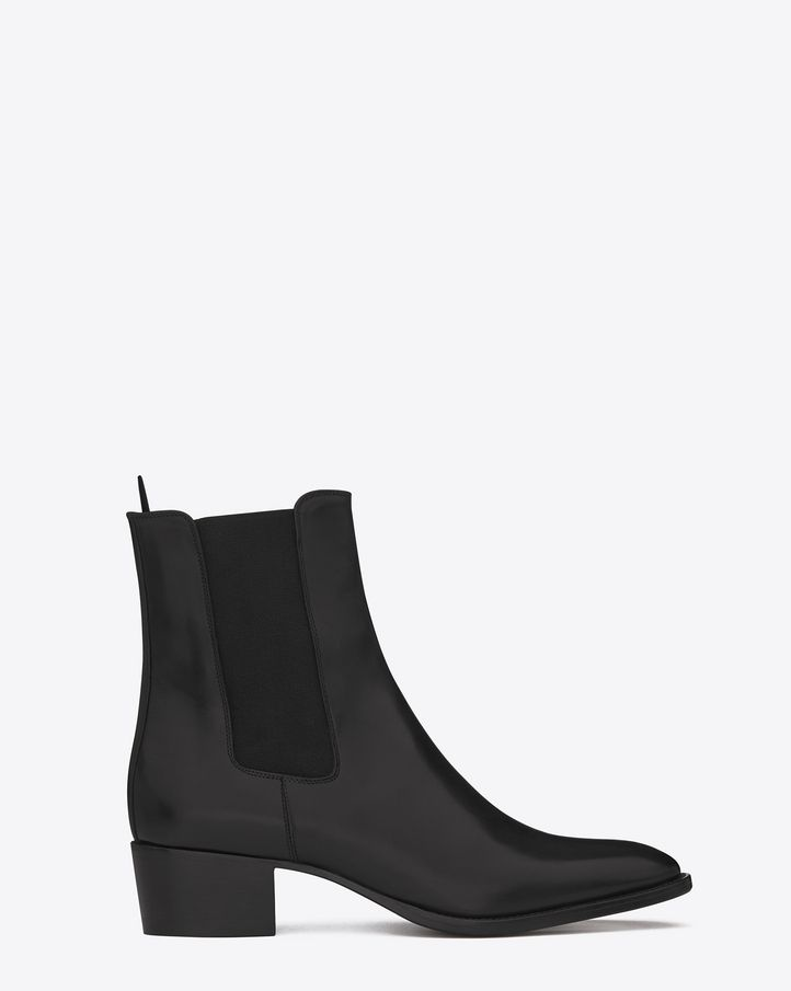 Saint Laurent CHELSEA 40 WYATT BOOT In Black Leather - ysl.com
