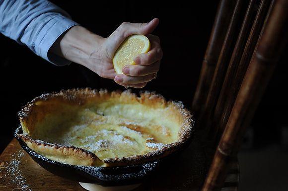 David Eyre's pancake via http://www.missmoss.co.za/2011/09/20/eat/: Lemon Pancakes, Eyre Pancakes, Brunch Recipes, German Pancakes, Baby Pancakes, Pancakes Recipes, Ovens Pancakes, David Eyre, Irons Grill