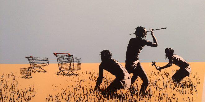 I carrelli della spesa di Banksy: un'opera che critica la cultura del consumo in mostra al Moco Museum di Amsterdam